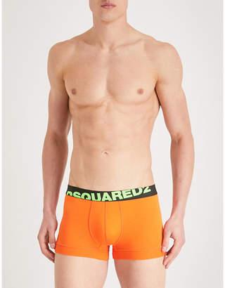 DSQUARED2 Solid logo slim-fit stretch-cotton boxer shorts