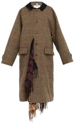 Vetements Checked Scarf Lined Trench Coat - Mens - Multi