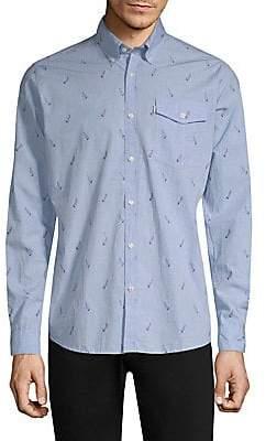 Barbour Men's Sail Wool Button-Down Shirt