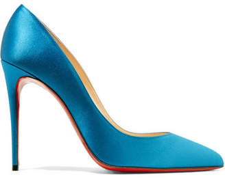 Christian Louboutin Pigalle Follies 100 Satin Pumps - Azure