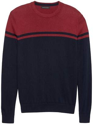 Banana Republic Silk Cotton Cashmere Stripe Sweater