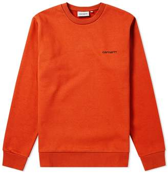 Carhartt Wip Script Embroidery Crew Sweat