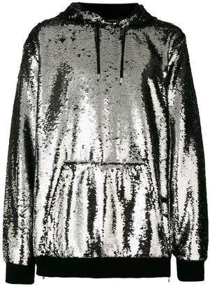 Balmain sequin hoodie