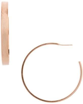 Halogen Large Brushed J-Hoop Earrings