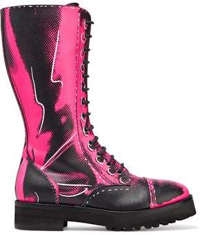 Moschino Printed Leather Boots