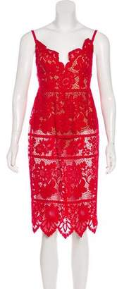 For Love & Lemons Lace Midi Dress