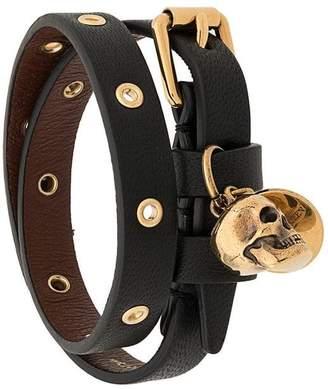 Alexander McQueen wrap-around skull motif bracelet