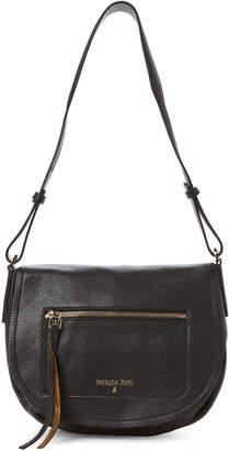 Patrizia Pepe Black Saddle Leather Crossbody