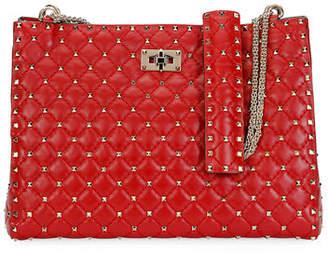 Valentino Rockstud Spike Crinkled Shoulder Bag