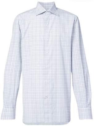 Isaia long sleeve plaid shirt