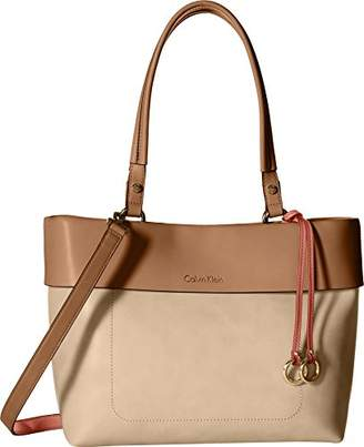 Calvin Klein Patty Faux Leather East/West Tote