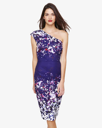 Phase Eight Catalina One Shoulder Printed Dress