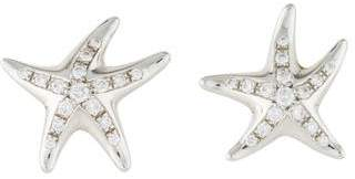 Tiffany & Co. Platinum Diamond Starfish Stud Earrings
