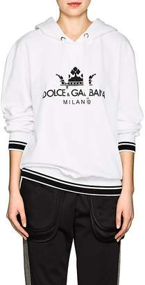 Dolce & Gabbana Women's Logo Cotton Terry Hoodie