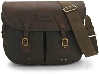 Barbour Men's Wax Leather Terras Bag - Olive