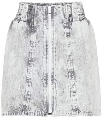 Miu Miu Acid wash denim miniskirt