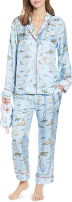 cjw Winter Animals Pajamas & Eye Mask
