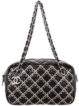 Chanel Tweed On Stitch Camera Bag