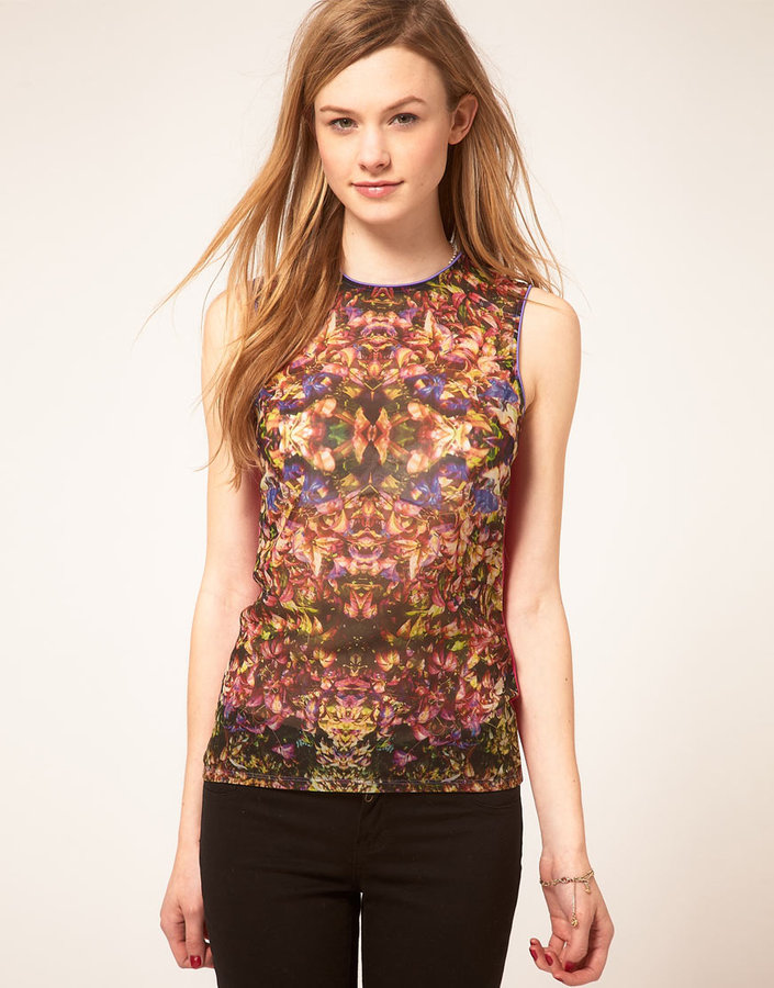 Ted Baker Floral Jersey Top