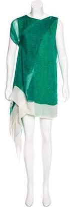 Christian Dior Geometric Print Handkerchief Dress