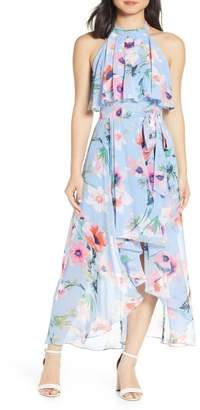 Eliza J Halter High/Low Midi Dress (Regular & Petite)