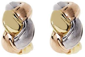 Arte d'Oro Tri-color Braided Hoop Earrings, 18K