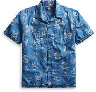 Ralph Lauren Indigo Cotton Camp Shirt