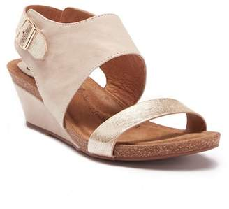 Sofft Vanita Leather Wedge Sandal - Wide Width Available