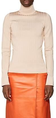 Lanvin Women's Rib-Knit Mock-Turtleneck Sweater