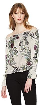 GUESS Women's Off The Shoulder Bethany Top