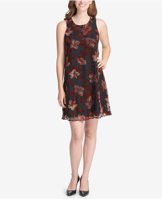 Tommy Hilfiger Floral Velvet Shift Dress