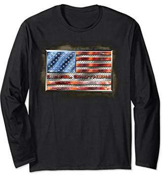 Diesel Brothers Tough American Steel Flag Long Sleeve Tee