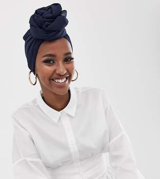 Verona chiffon maxi headscarf in navy