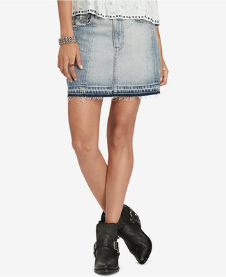 Denim & Supply Ralph Lauren Frayed Denim Skirt $125 thestylecure.com