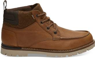 Toms Waterproof Dark Toffee Leather Men's Hawthorne Boots