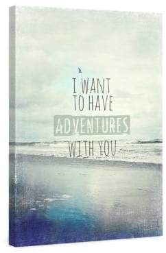 Marmont Hill I Want to Have Adventures With You Painting Print on Wrapped Canvas