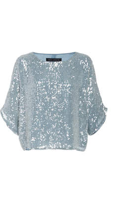 Sally LaPointe Sequin Embroidered Dolman Tee