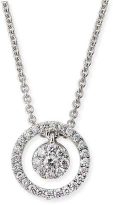 Roberto Coin Tiny Treasures Diamond Halo Circle Pendant Necklace