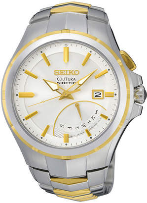 Seiko Coutura Mens Two-Tone Stainless Steel Kinetic Retrograde Watch SRN064