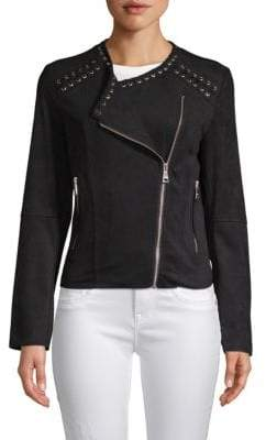 Vigoss Faux Suede Braided Jacket