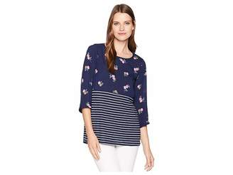 Joules Sonya Jersey/Woven Mix Top