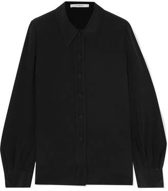 Givenchy Silk Crepe De Chine Blouse - Black