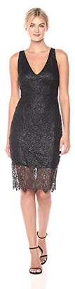 GUESS Women's Lace Midi Dress with V-Neckline
