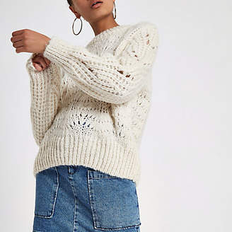 River Island Cream chunky knit sweater