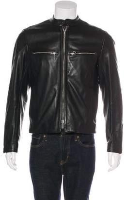 Rag & Bone Leather Zip-Up Jacket