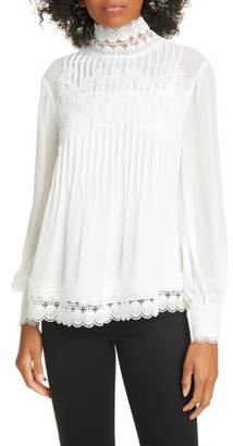 Ted Baker Cailley Lace High Neck Blouse