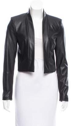 Calvin Klein Vegan Leather Structured Jacket