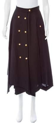 Loewe Linen-Blend Midi Skirt w/ Tags