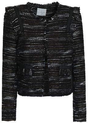 Joie Perlyn Frayed Bouclé-Tweed Jacket