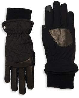 Echo Quilted Sheepskin Leather Gloves